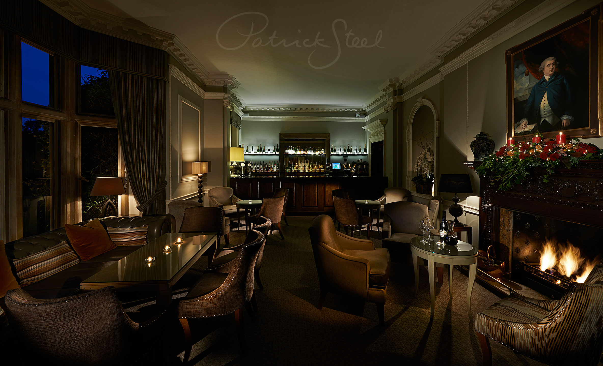 photograph bar lounge Professional Interiors Photographer Patrick Steel London
