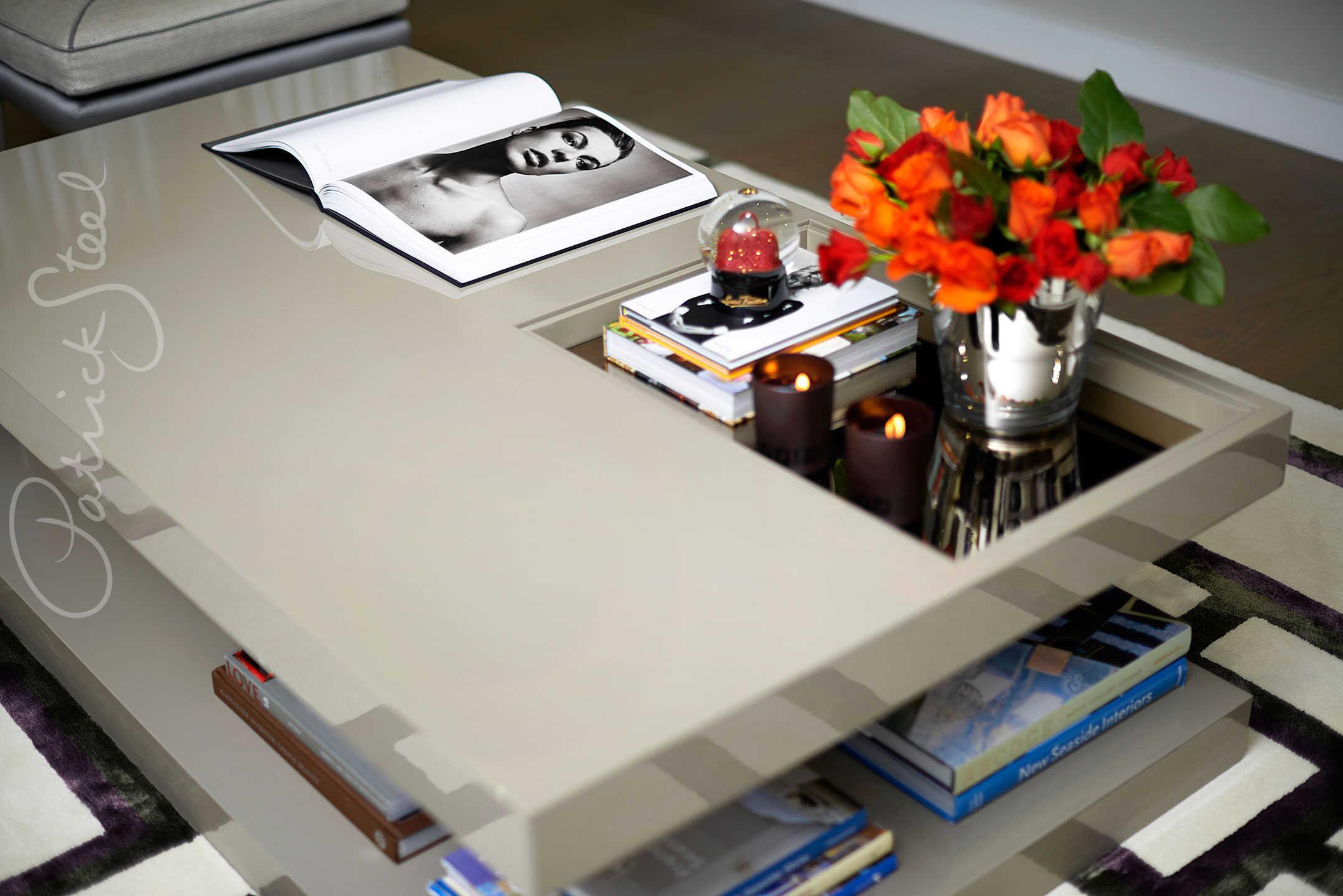 photograph coffee table professional Interiors Photographer Patrick Steel