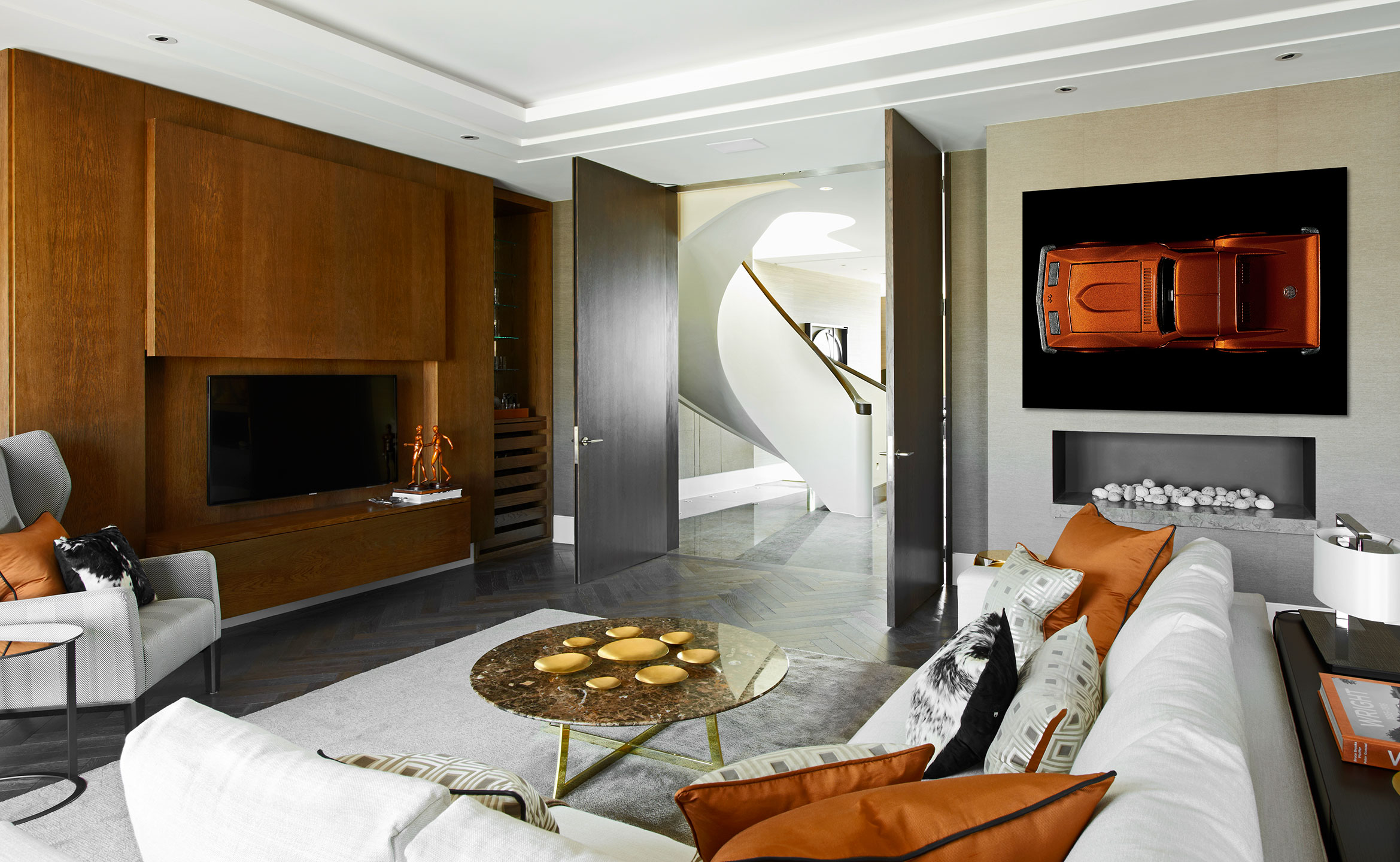 photograph living room high-end trafalgar square london patrick steel